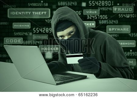A Hacker Stealing Online Credit Card