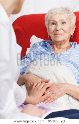 Nurse Visiting Senior Patient