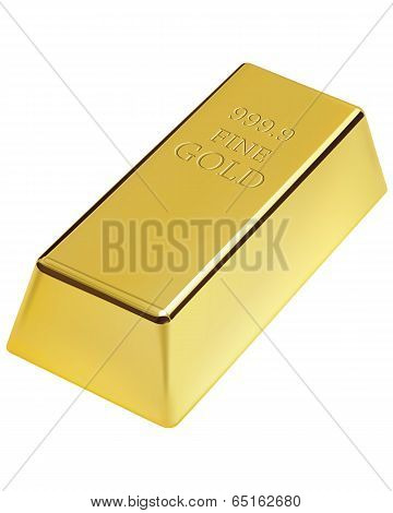 Gold Bar Isolated. Vector Illustration