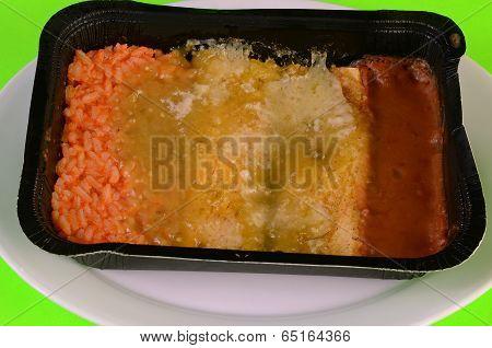 Microwave Enchiladas Verde