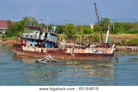 Sunk Fishing Boat