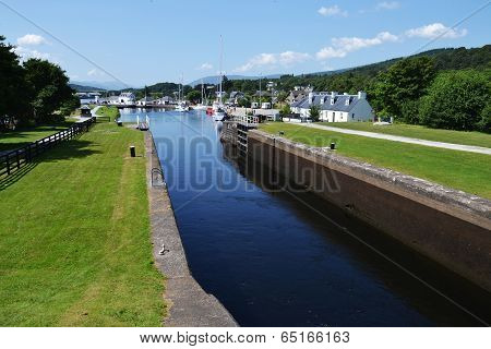 Neptune's Staircase on the Caledonian Canal, the longest in Britain