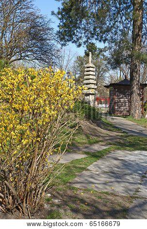 Japanese Style Park In Kiev In Honour Of Sister City Of Kyoto, Japan