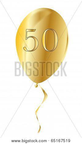 Golden Anniversary Balloon