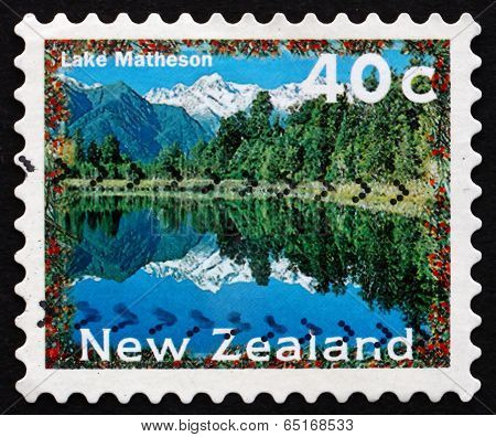 Postage Stamp New Zealand 1996 Lake Matheson