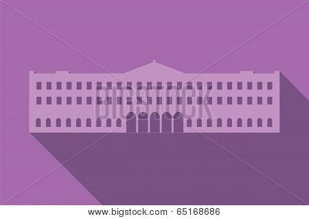 World landmark, Buckingham Palace, London, UK, Europe, vector illustration