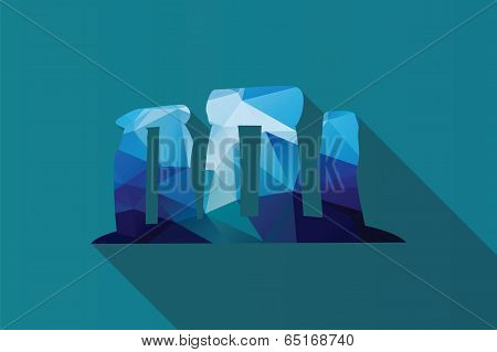 World landmark, Stonehenge, English country, Wiltshire, UK, Europe, vector illustration