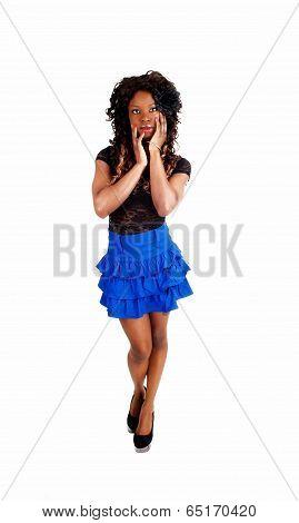 Slim Girl In Skirt.