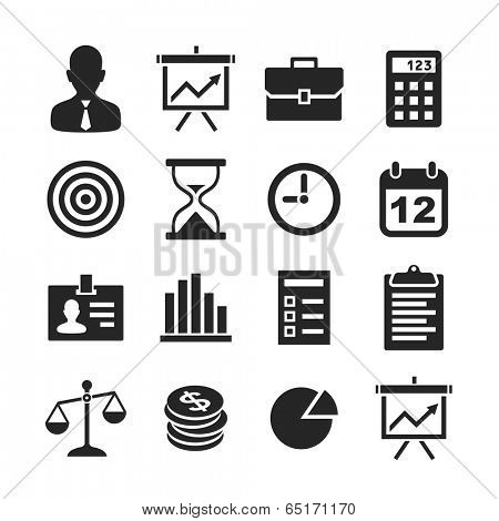 Business & finance icons. Raster version
