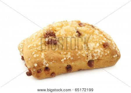 Multigrain Quark Bread with chocolate chips on a white background