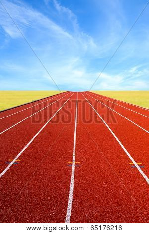 Running Track  In The Morning.