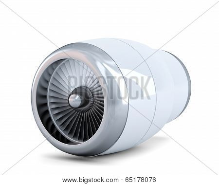 Jet Engine. Isolated. Contains Clipping Path