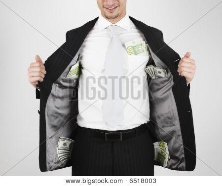 money in pockets