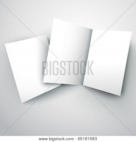 Vector Illustration Of Blank White Folded Paper