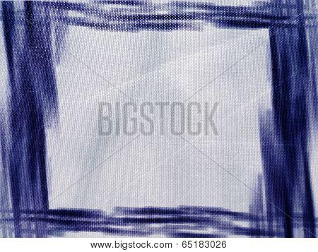 Painterly Blue-white-black Background