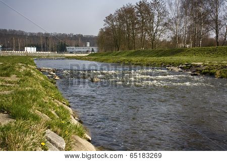River With A Weir