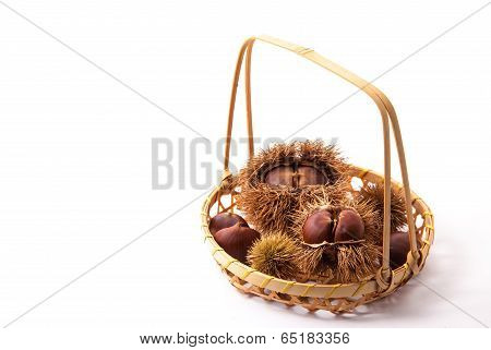 Chestnuts Were Served In A Basket