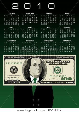 2010 100 Man Calendar
