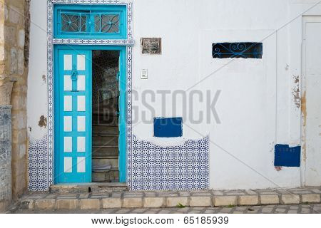 Cyan Tunisian Door