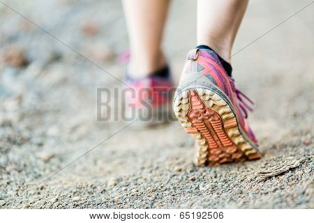 Walking Or Running Legs, Sports Shoe