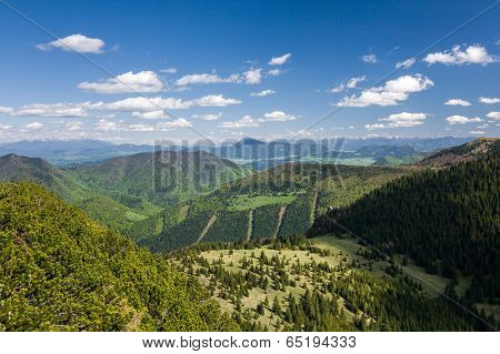 View From The Mountain Ridge