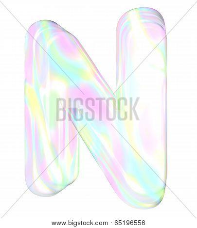 Rainbow alphabet-N