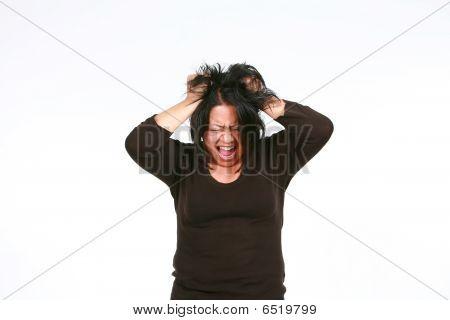 Crazy Hispanic Woman