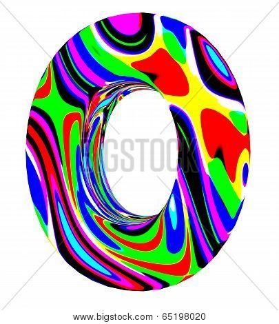 Psychedelic alphabet-O