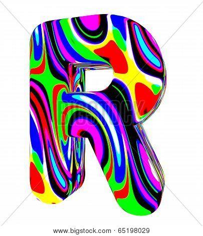 Psychedelic alphabet-R