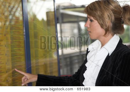 Checking The Trainschedule