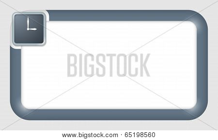 Vector Frame For Text Insertion With Clock