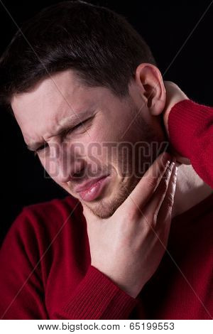 Man Having Strong Pain