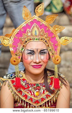 Girl During A Classic National Balinese