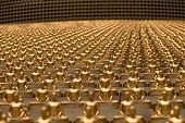image of figurines  - Million golden Buddha figurine in Wat Phra Dhammakaya - JPG