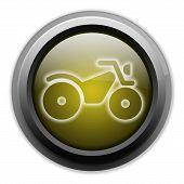 stock photo of four-wheeler  - Image Graphic Icon Button Pictogram with ATV symbol - JPG