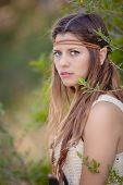 stock photo of pointed ears  - cosplay elf fairy tale elven character - JPG