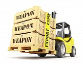picture of export  - Weapon export concept with military crates on the pallet - JPG