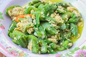 picture of gourds  - Sponge Gourd fried with Egg ingredient  - JPG