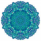 foto of east-indian  - Abstract Flower Mandala - JPG