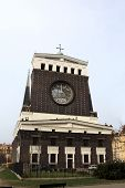 image of sacred heart jesus  - View of church of the Sacred Heart of Jesus in Prague - JPG