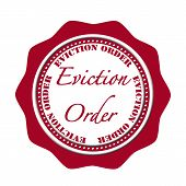 image of eviction  - eviction order grunge stamp with on vector illustration - JPG