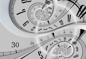 stock photo of distort  - Twisted Time Abstract Time Concept Illustration - JPG