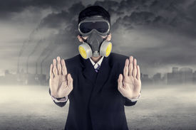 picture of polluted  - Pollution concept - JPG