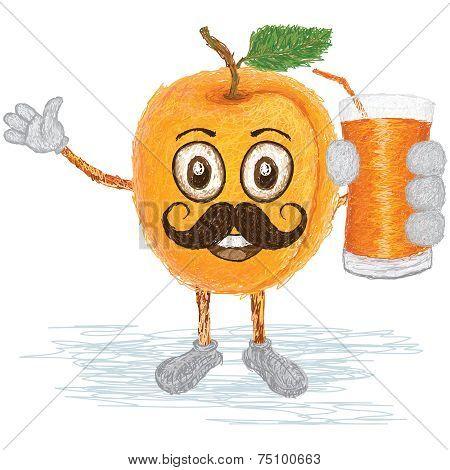Apricot Fruit Mustache