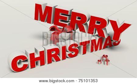 Merry Christmas 3D Text,gift High Resolution