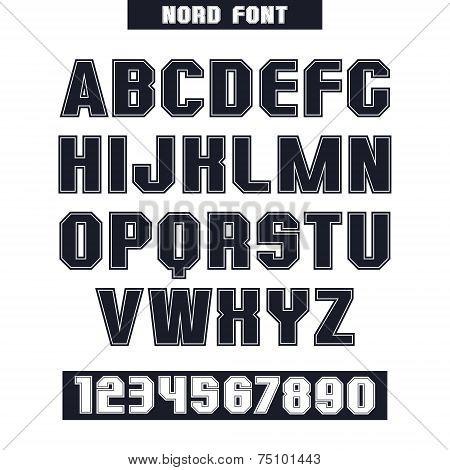 Sans Serif Font With The Contours