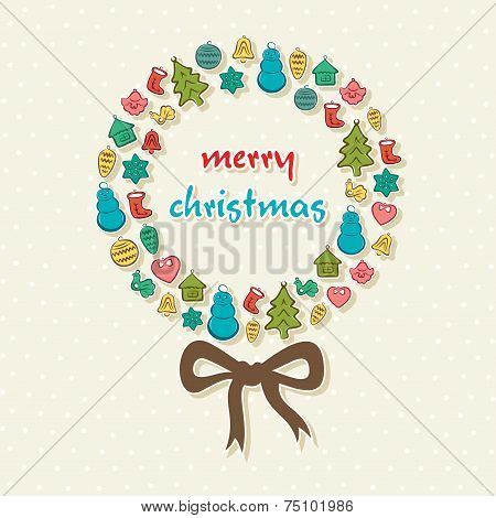 creative merry Christmas ball design vector