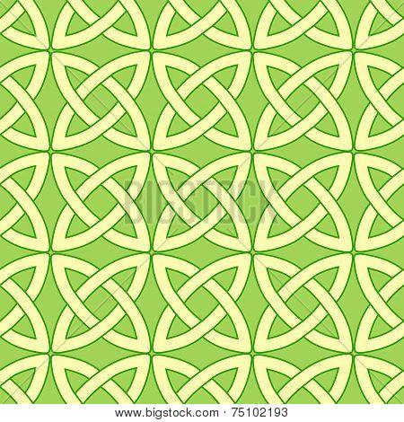 Green Celtic Pattern