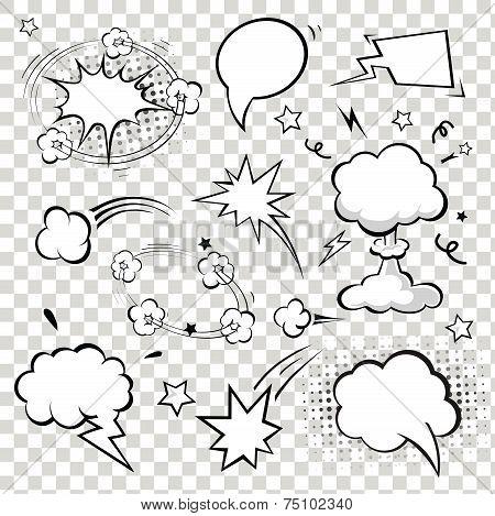 Comic Speech Bubbles. vector illustration.