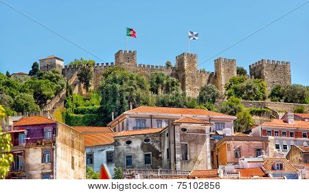 Castle Sao Jorge In Lisbon, Portugal